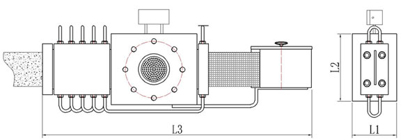 automatic screen changer extrusion drawing