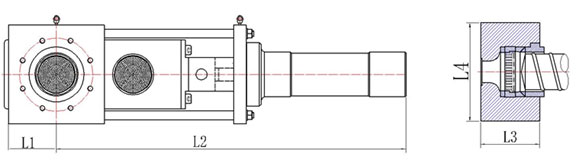 single plate screen changer drawing