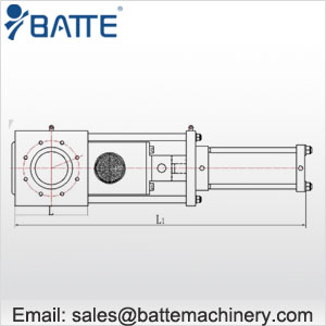 single plate screen changers for extruder with two screen stations drawing