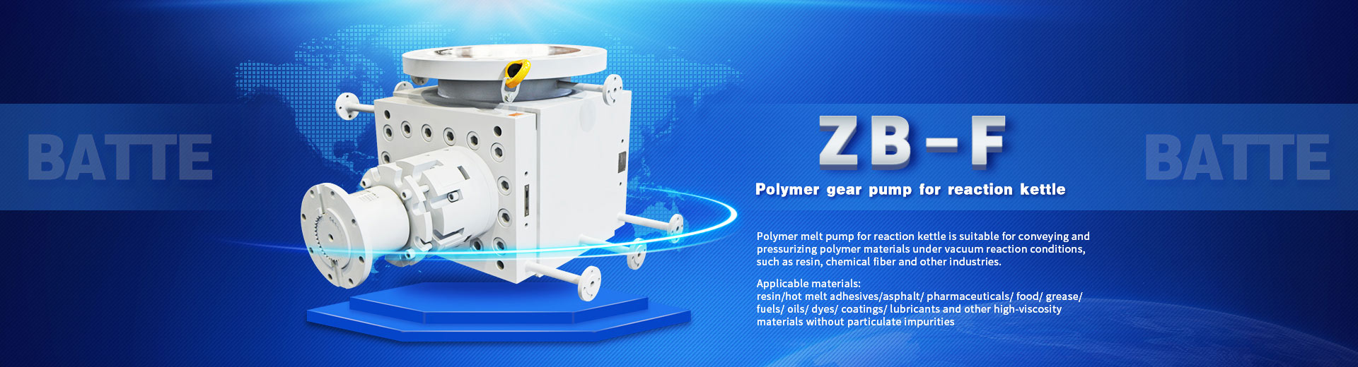 Batte Plastic melt pump for extruder
